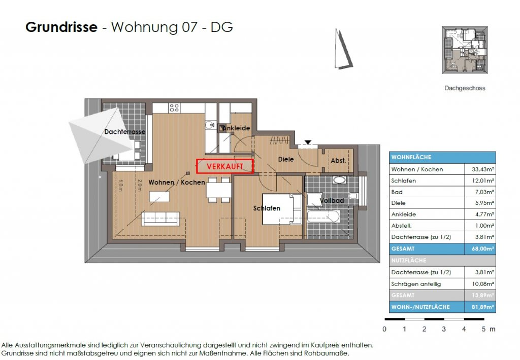 Grundriss P2 Wohnung - Test